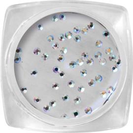 Pietricele Cristal pentru Unghii - Holographic Silver SS3 - 50buc