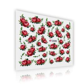 Sticker Unghii - Motiv Floral - C035