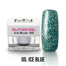 Gel UV cu Sclipici - nr.05 - Ice Blue - 4g