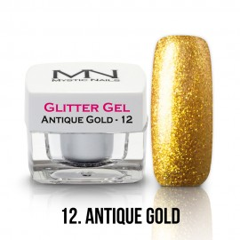 Gel UV cu Sclipici - nr.12 - Antique Gold - 4g