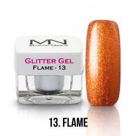 Gel UV cu Sclipici - nr.13 - Flame - 4g