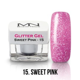 Gel UV cu Sclipici - nr.15 - Sweet Pink - 4g