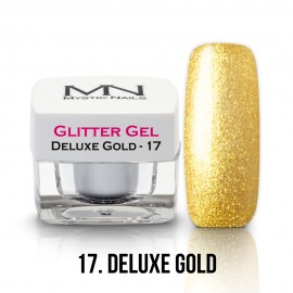 Gel UV cu Sclipici - nr.17 - Deluxe Gold - 4g