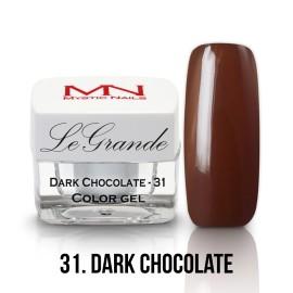 LeGrande Color Gel - nr.31 - Dark Chocolate - 4 g