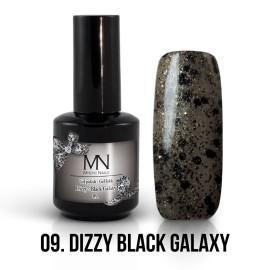 Gel Lac - Mystic Nails Dizzy no.09. - Dizzy Black Galaxy 8 ml