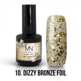 Gel Lac - Mystic Nails Dizzy no.10. - Dizzy Bronze Foil 8 ml