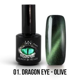 Mystic Nails Efect Ochi De Dragon 01 - Olive 12 ml